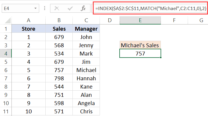Index Amp Match Functions Combo In Excel 10 Easy Examples