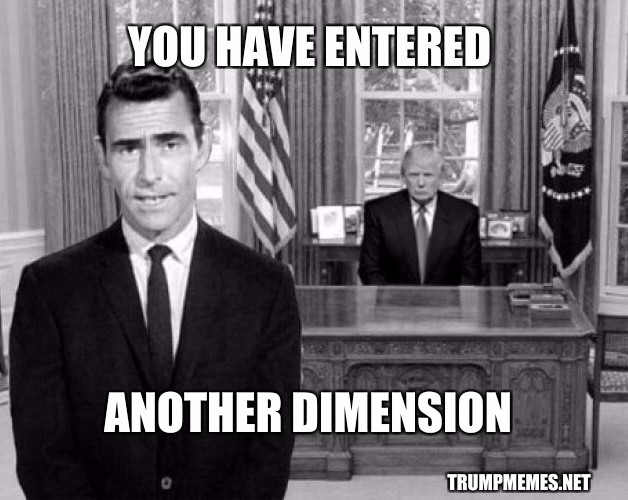 Twilight Zone 2018: Donald Trump is a stable genius
