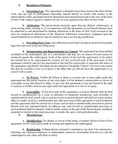 Trump's Post Service Agreement : NDA Page 5