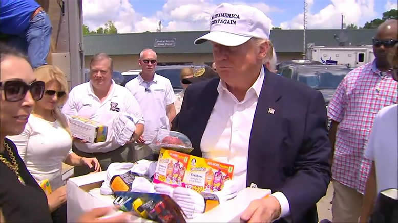 Trump tours Louisiana