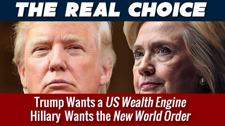One choice for America, US Jobs Engine or New World Order