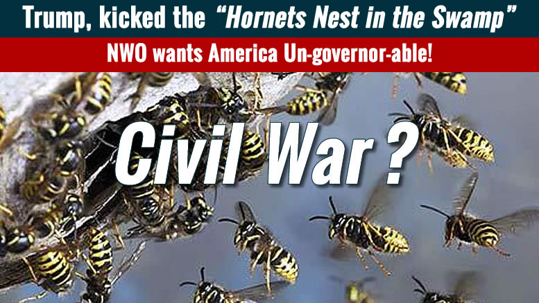 New Civil War? Trump is stirring the Hornet's Nest in the Swamp -TvR