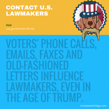 Website to contact US lawmakers