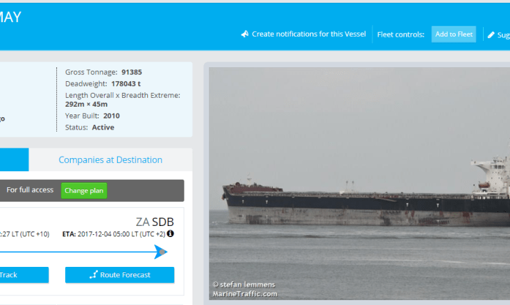 The Ping May, a ship owned by Mitch McConnell's wife's LLC, carried cocaine at least once