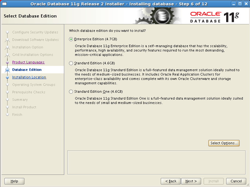 Install Oracle software 6