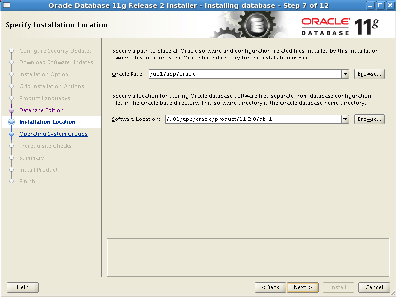 Install Oracle software 7