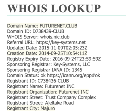 thong tin IP futureadpro-whois
