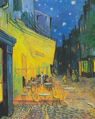 Cafe Terrace in Arles in the evening