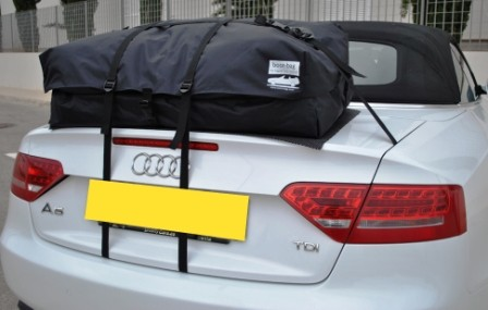 audi a5 cabriolet luggage rack  - bootbag vacation