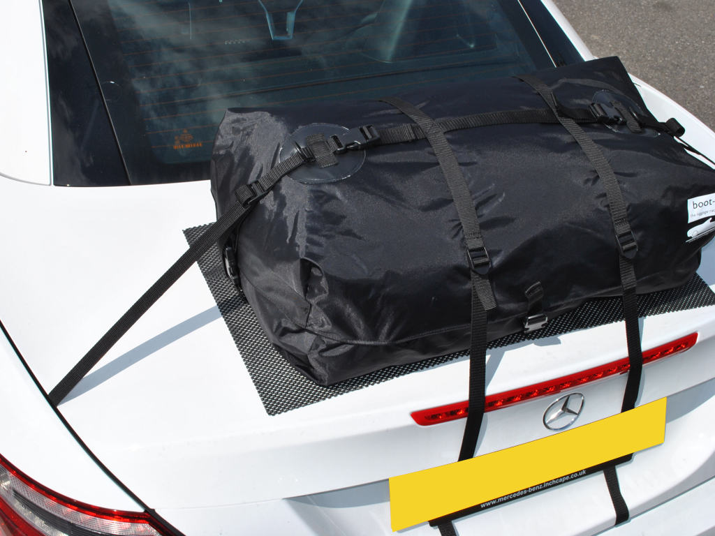 Mercedes slc luggage rack innovative design no bolts no for Mercedes benz suitcase