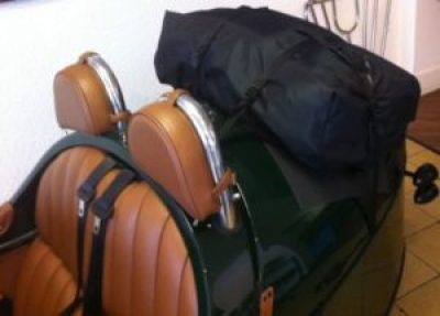 Morgan 3 wheeler luggage bag