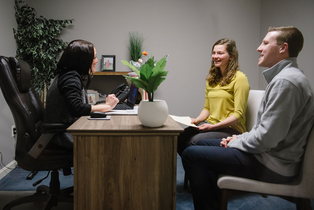 Kristin meeting with clients