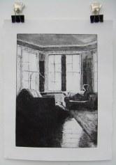 Truro College, Sarah Reeves Window gazing 42x30