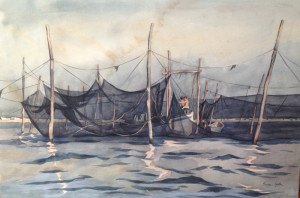 Trap Boat in the Trap by George Yater Courtesy of Diana Worthington_site