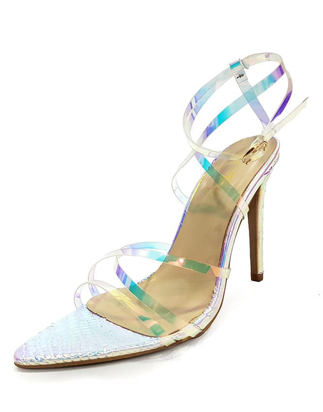 ada1ddfe0b21 Clear PVC Charmer Lace-Up Womens Heels - Trushoe
