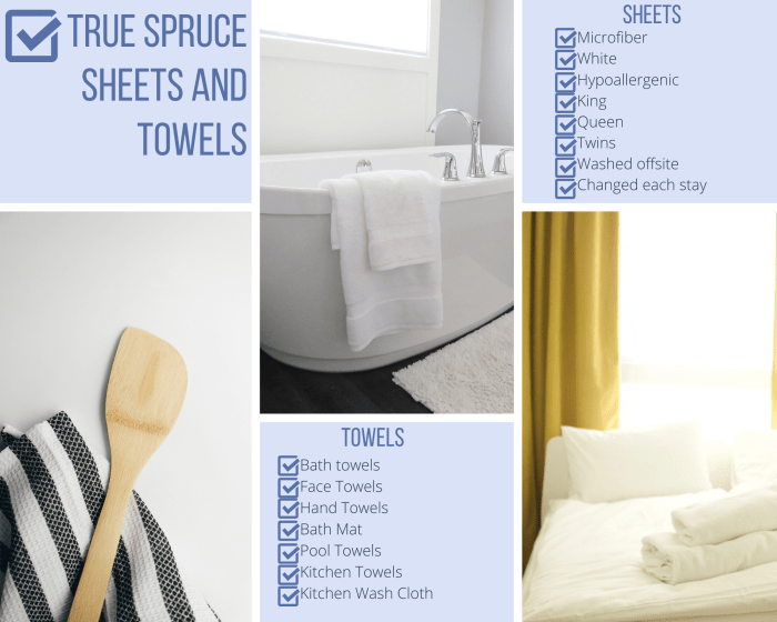Vacation rental linen service checklist for sheets and towels
