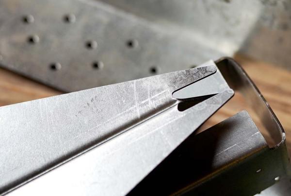 close up of metal bracket