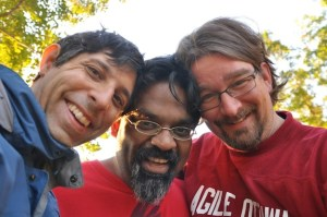 Michael, Siraj and Olaf in Temenos