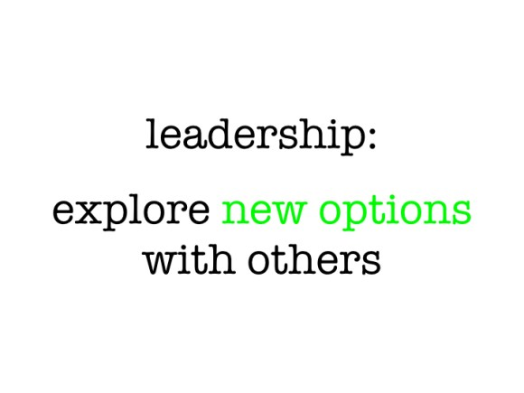 Leadership: Explores Options