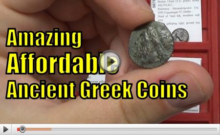 AFFORDABLE Ancient Greek and Roman COINS from circa 400BC-100AD