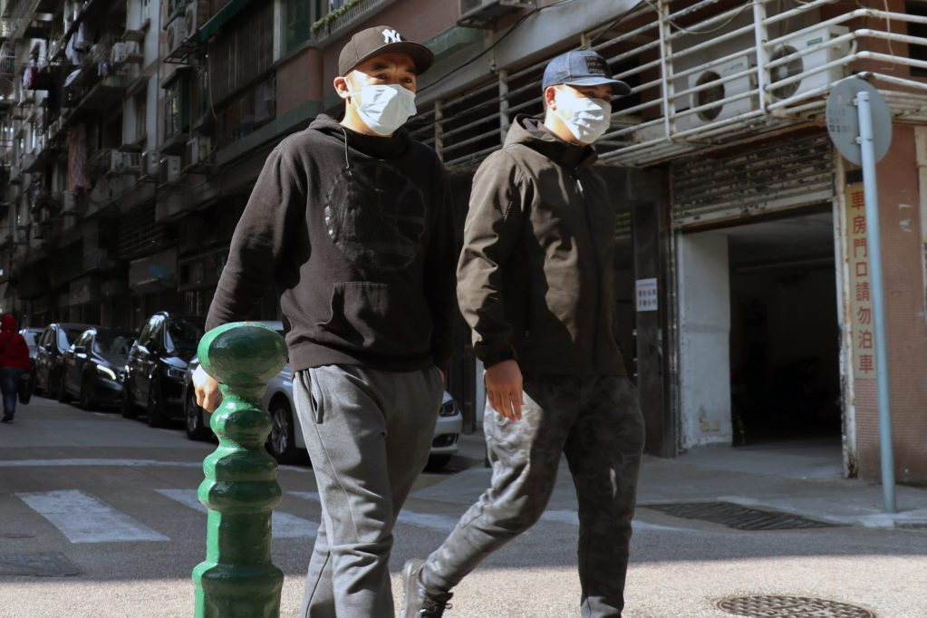 People wearing masks to prevent catching the coronavirus or covid-19
