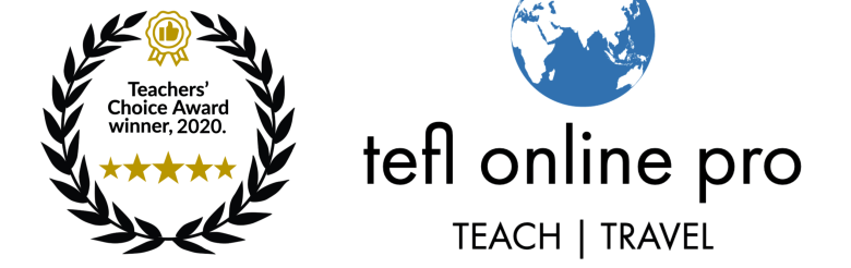 Teachers Choice Award 2020 tefl online pro winner