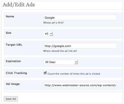 125 banner ad plugin for WordPress