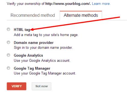 How to verify WordPress blog with Google Webmaster Tools