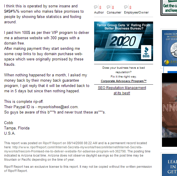 7daycashtest.com scam