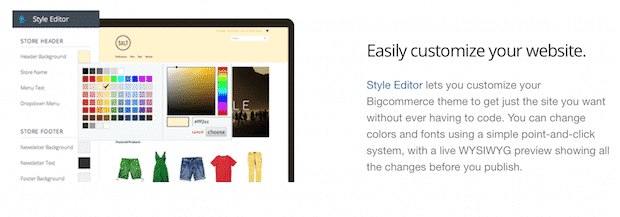 Customizable online store
