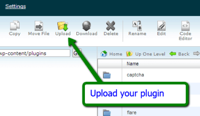 upload plugin in Cpanel
