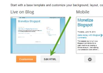 Monetize a Blogger blog