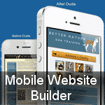 drag and drop mobile website builder