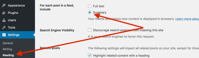 Speed up WordPress by using summary for posts