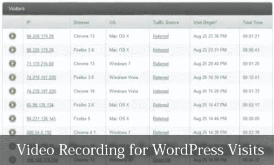 Video Recording for your WordPress Visistors