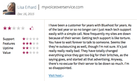 InMotion Hosting vs Bluehost reviews