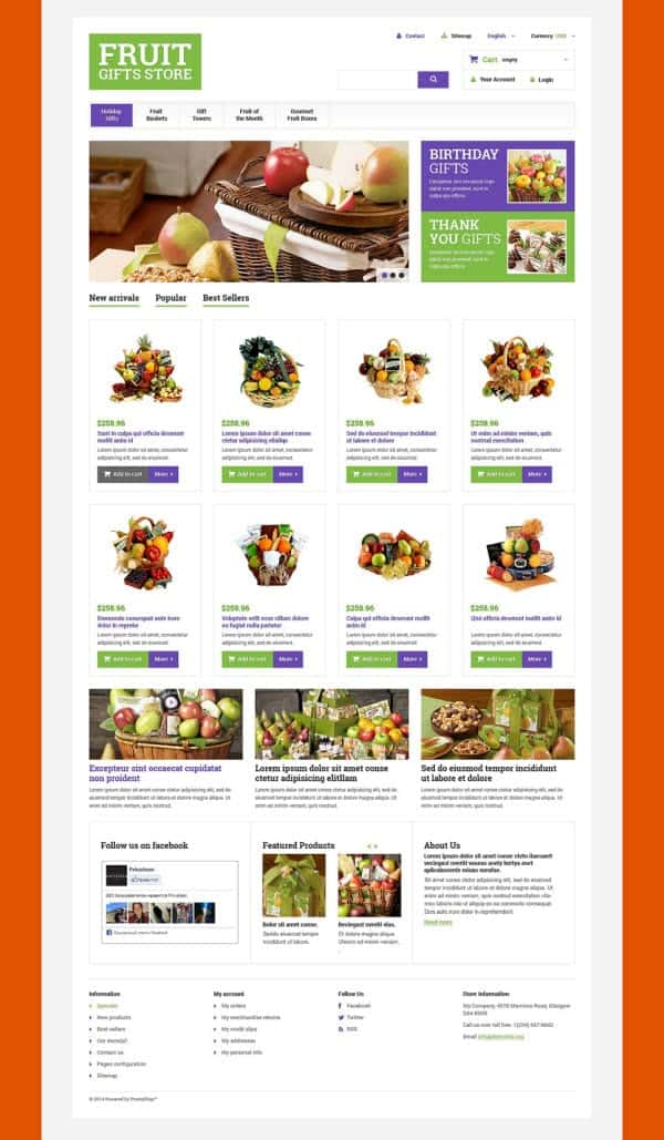 Gifts Store theme for PresaShop