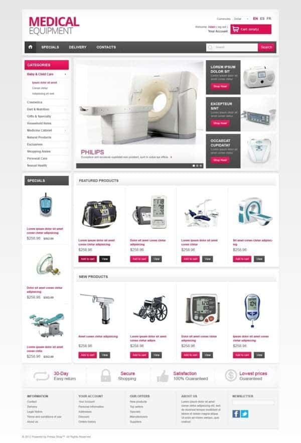 Medical Equipment theme