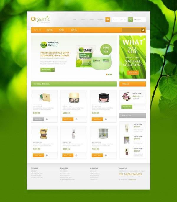 Organic Cosmetics Store Theme