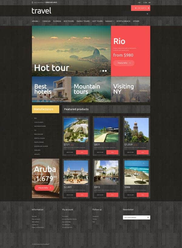 Traveling PrestaShop theme