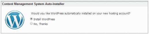 WordPress pre Installed