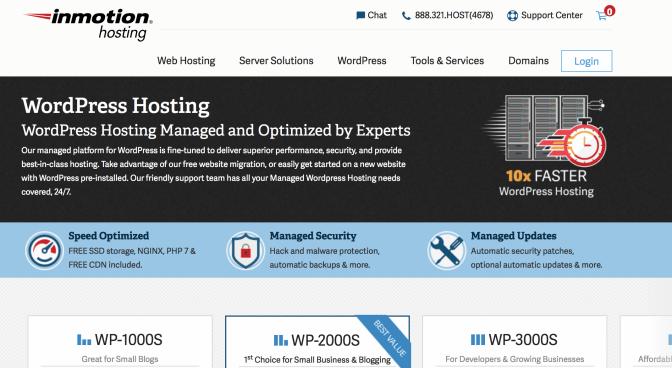 is InMotion hosting good for WordPress