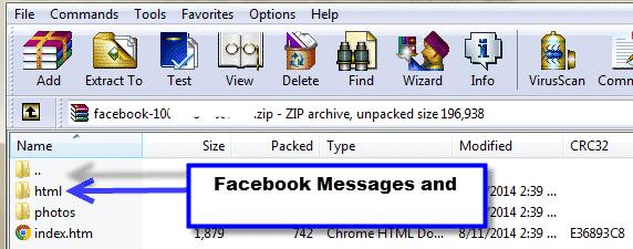 open facebook archive