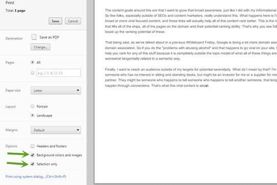 Saving articles as PDF files