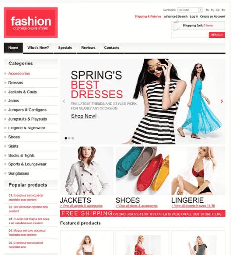 Fashion template