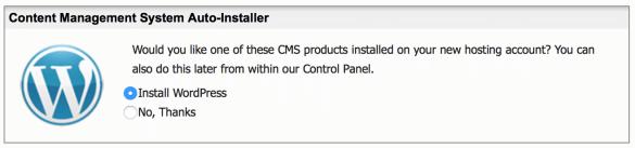 WordPress Auto-installer software