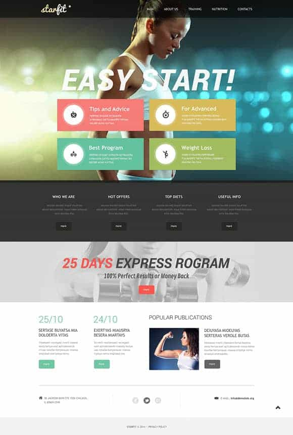 body building template
