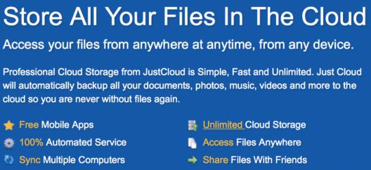 Unlimited cloud backup