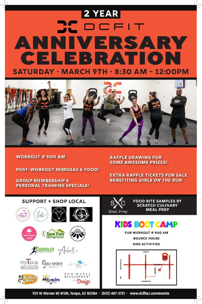 DCFit 2nd Anniversary Celebration Flyer