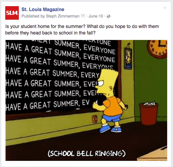 STL summer Simpsons